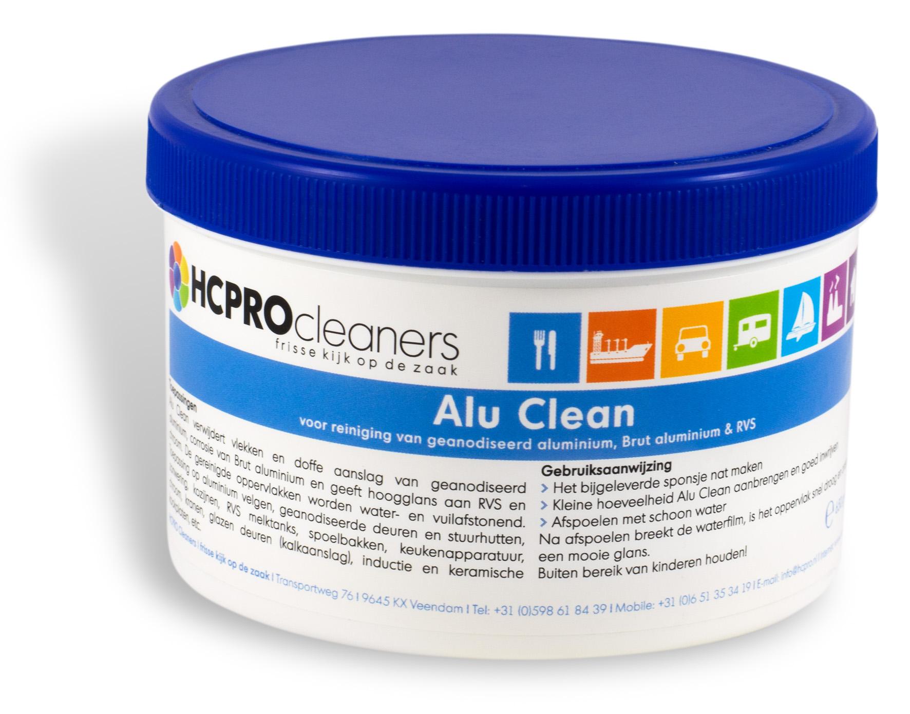 Alu Clean 650 gram pot met spons